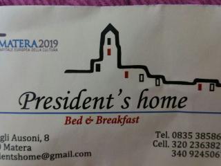 B&B President's Home, Matera