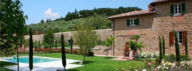 guest house and Cortona upon a hill