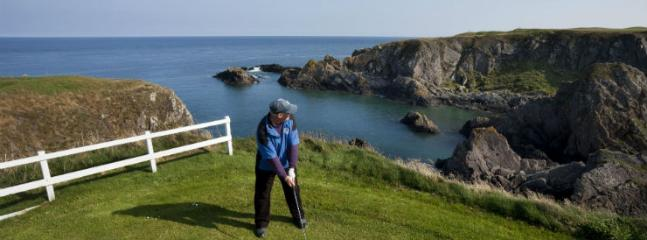 The spectacular 6th hole at Eyemouth Golf Club
