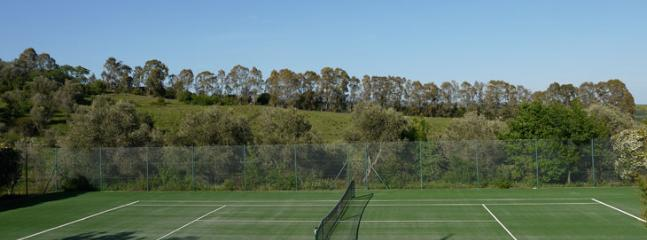 shared tennis court in the estate