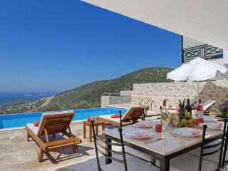 2 Bedrooms, full seaview,private pool,modern villa, Kalkan