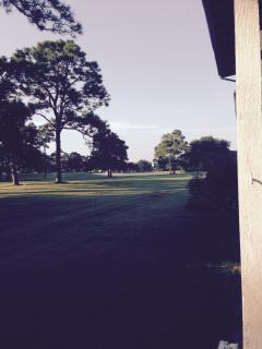 Morning view of the golf course from the patio