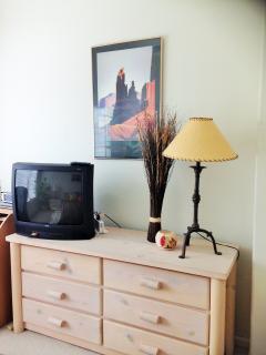 Small TV in master bedroom