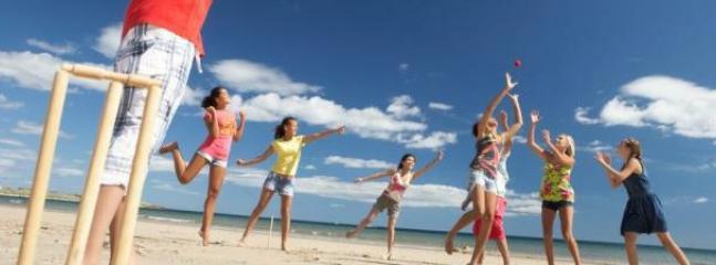 beach cricket gear supplied