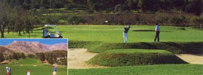 The golf course a stones throw away 18 hole championship course + 9 hole and driving range,putting