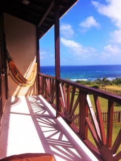 Bedroom patio - facing the sea!