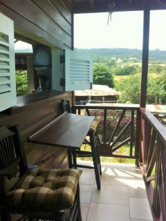 Kitchen patio with hillside view!