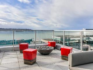 Dog-friendly condo near the waterfront with a shared roof deck, BBQ area & gym!