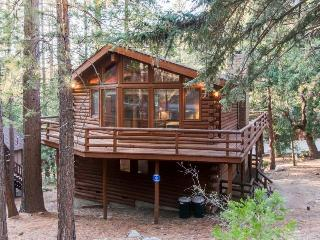 Charming two-story cabin lodge w/ deck - great for families!, Idyllwild