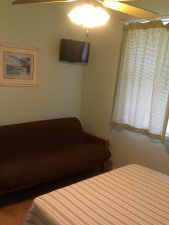 Guest Bedroom with Full Size Futon and Smart HDTV w/NetFlix
