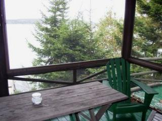 LINEKIN LOG CABIN | EAST BOOTHBAY | MAINE | DOCK AND FLOAT | SCREENED PORCH