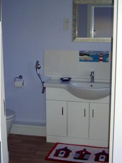 Two en-suites - one Shower room and one Bathroom, both with heated towels rails.