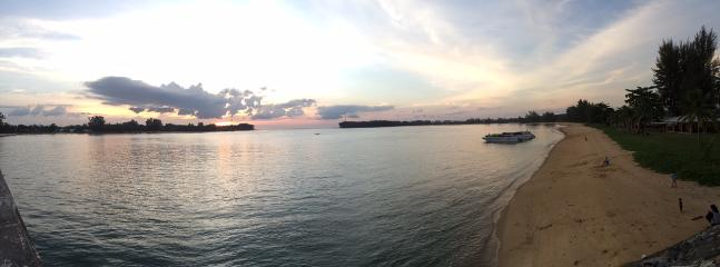 Go on the Sarasin bridge and enjoy this view at sunset as well as local food and goods.