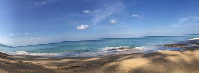 This is a panoramic view which you will see as you walk on the pristine beach.. enjoy nature.