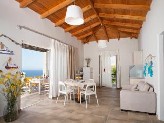 Sun Villa - spacious living room with kitchen and front terrace