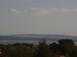 View of the Solent and Isle of Wight from the apartment.