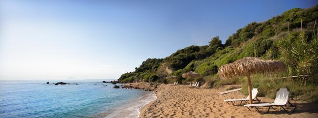 Levendochori beach - a little heaven, right below the villas
