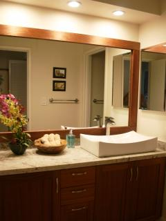Bright and roomy Guest Vanity