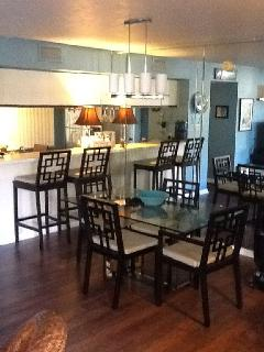 Plenty of space for dining or at the breakfast bar