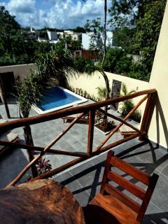 Balcony of Casa Santiago Tulum