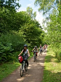 Plenty of cycle trails for the whole family whatever your fitness level!