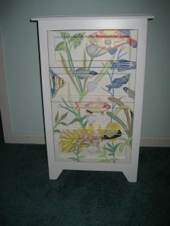 Decorative Fish Cabinet in Master Bedroom