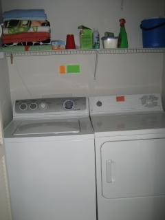 Full Size Washer/Dryer in Laundry Area