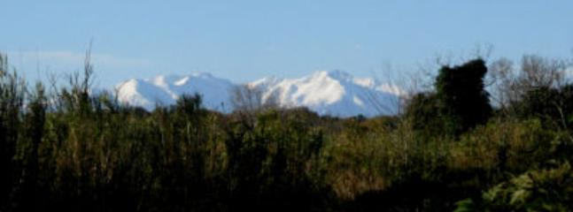 The Canigou peek seen from dining room window