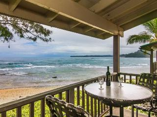Premium oceanfront unit 10 steps from the sand! Summer special $275/night!!!!, Hanalei