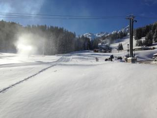 Le Grand Soleil,  near center and ski slopes