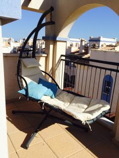 Relax on the hammock chair