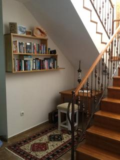 stairs leading up to bedrooms