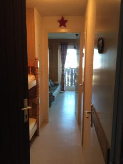 View into apartment from front door