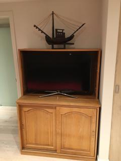 TV in upstairs bedroom
