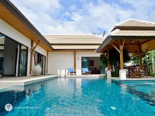 Spacious pool villa with lush garden