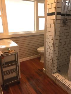 Ensuite bathroom with stall shower