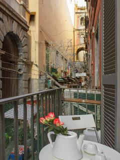 balcony on the street