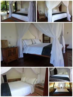 All bedrooms have king size beds and fine linen. 2 bedrooms can convert to twin bedded rooms.