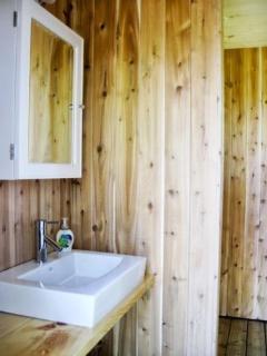 Shower in bath house
