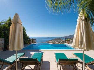 Relaxing Villa Iris with stunning views of Kalkan Bay and private infinity pool