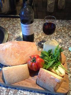 Bread, cheese and wine. What more could you want?