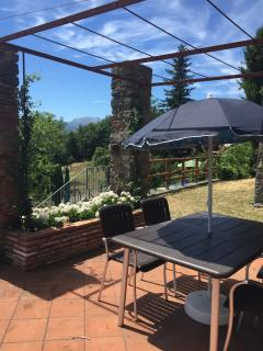 Table on the terrace for your meals and enjoyment