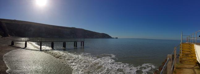 The needles on a clear crisp winters day.