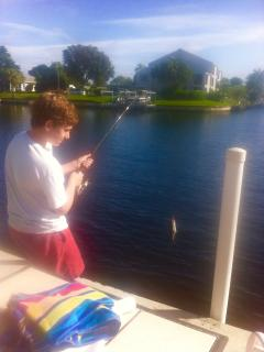 enjoy an afternoon of fishing on the pier
