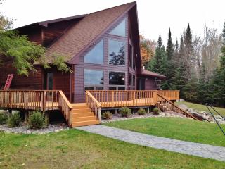 Beautiful 3BR Lakefront Cottage in the Upper Peninsula - Peaceful Setting w/Cobblestone Fire Pit & Private Dock!, Iron River
