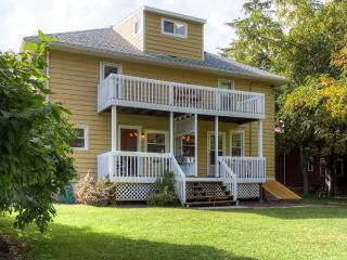 Splendid 3BR Elkhart Lake Townhome w/Wifi, Large Fenced Yard & Multiple Private Porches - Walking Distance to the Lake, Fine Dining, Shopping, Live Music & More