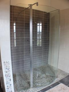 Master bathroom with fabulous walk in shower