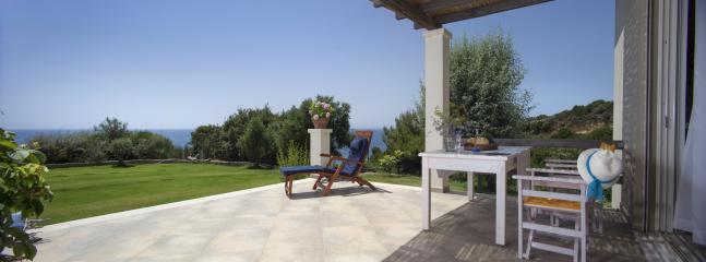 Sky Villa - front terrace with panoramic view of the Ionian Sea