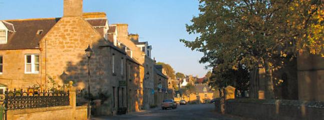 The high street in Dornoch.