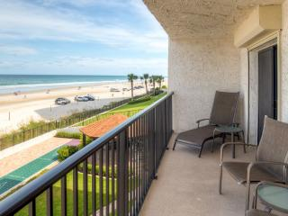 New Listing! Tropical Beachfront 2BR Daytona Beach Shores Condo w/Private Patio, Pool Access & Panoramic Ocean Views - Easy Access to Beaches, Dining, Sporting Events & More!